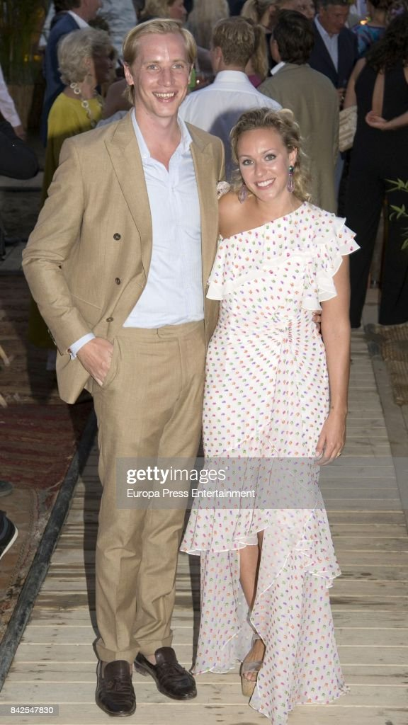 Marie-Grabielle of Nassau and Antonius Willms, from The Grand Ducal Family of Luxembourg, are seen having dinner the day before the wedding of Marie-Gabrielle of Nassau, on September 1, 2017 in Marbella, Spain.