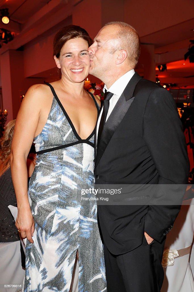 Marie-Jeanette Ferch and Heino Ferch attend the Rosenball 2016 on April 30 in Berlin, Germany.