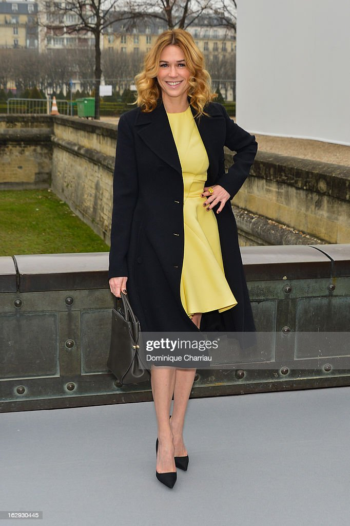 Marie-Josée Croze arrives at the Christian Dior Fall/Winter 2013 Ready-to-Wear show as part of Paris Fashion Week on March 1, 2013 in Paris, France.