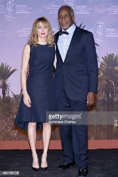 MarieJosee Croze and Danny Glover pose for photographers during 'The Narrow Frame Of Midnight' Photocall as part of the 14th Marrakech International...