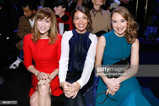 MarieJosee Croze Anne Marivin and Deborah Francois attend the Elie Saab show as part of Paris Fashion Week Haute Couture Spring/Summer 2014 on...