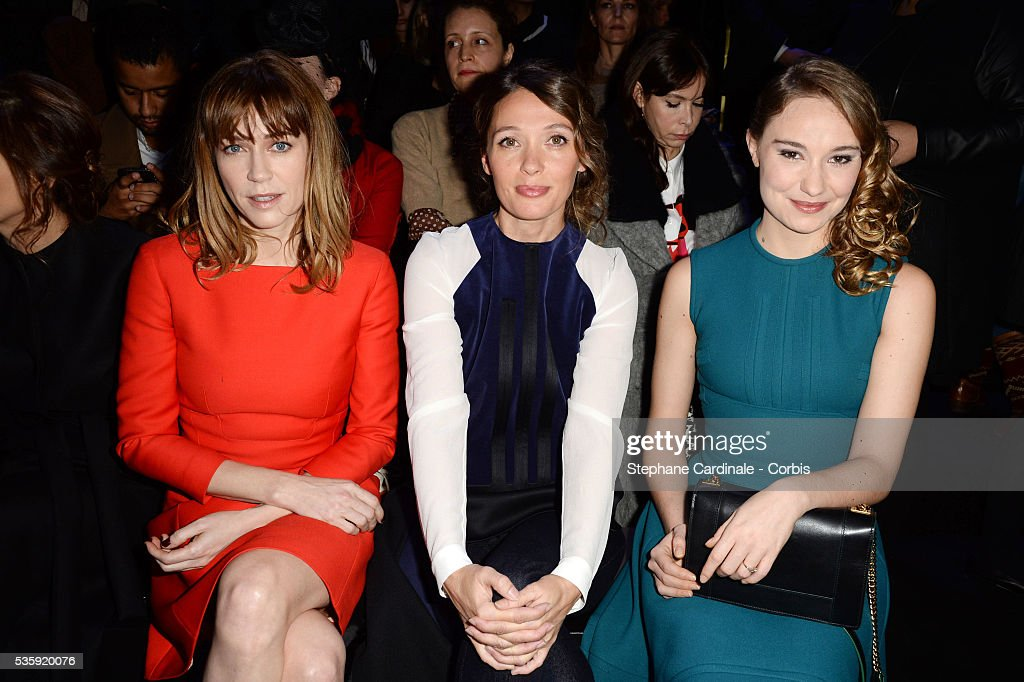 Marie-Josee Croze, Anne Marivin and Deborah Francois attend the Elie Saab show as part of Paris Fashion Week Haute Couture Spring/Summer 2014 , at Theatre National de Chaillot, in Paris.