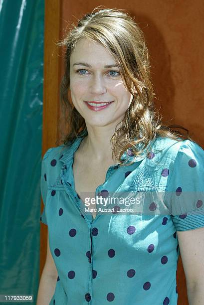 MarieJosee Croze arrives at the 'Village' the VIP quarter of the French Tennis Open at Roland Garros arena in Paris France on June 8 2006