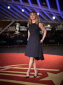 MarieJosee Croze arrives on the red carpet for the movie 'The Narrow Frame Of Midnight' during the 14th Marrakech International Film Festival...