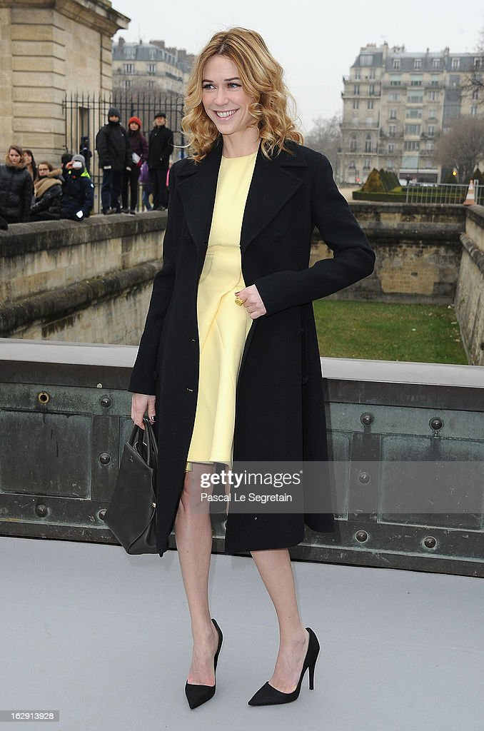 Marie-Josee Croze arrives to attend the Christian Dior Fall/Winter 2013 Ready-to-Wear show as part of Paris Fashion Week on March 1, 2013 in Paris, France.