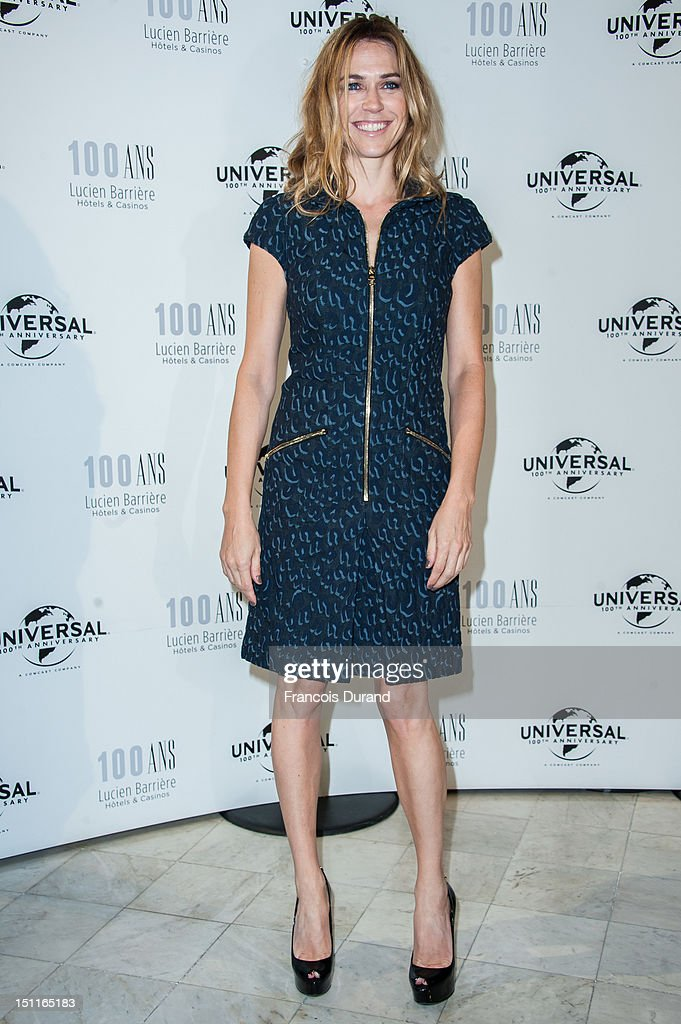 Marie-Josee Croze attends the 100th anniversary of Universal and Lucien Barriere at Royal Barriere hotel during the 38th Deauville American Film Festival on September 1, 2012 in Deauville, France.