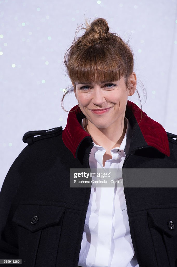 Marie-Josee Croze attends the Chanel show as part of Paris Fashion Week Haute-Couture Spring/Summer 2014, at Grand Palais in Paris.