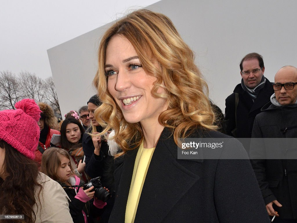 Marie-Josee Croze attends the Christian Dior - Outside Arrivals - PFW F/W 2013 at Hotel des Invalides on March 1rst, 2013 in Paris, France.