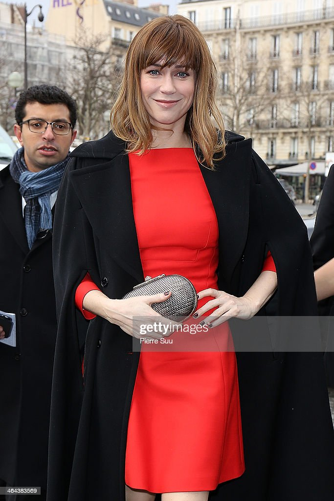 MarieJosee Croze attends the Elie Saab show as part of Paris Fashion Week Haute Couture Spring/Summer 2014> on January 22 2014 in Paris France