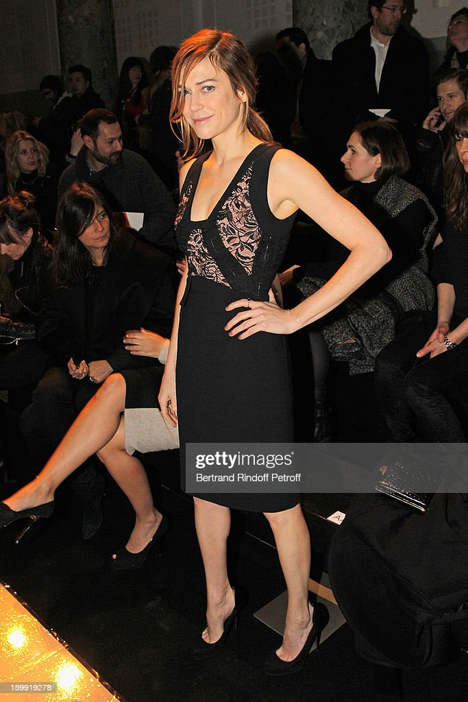 <a gi-track='captionPersonalityLinkClicked' href=/galleries/search?phrase=Marie-Josee+Croze&family=editorial&specificpeople=626597 ng-click='$event.stopPropagation()'>Marie-Josee Croze</a> attends the Elie Saab Spring/Summer 2013 Haute-Couture show as part of Paris Fashion Week at Pavillon Cambon Capucines on January 23, 2013 in Paris, France.
