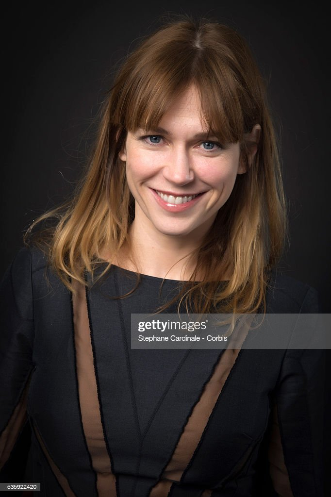 Marie-Josee Croze poses at a photo session during the 'American Bluff' Party at Pavillon Champs Elysees, in Paris.