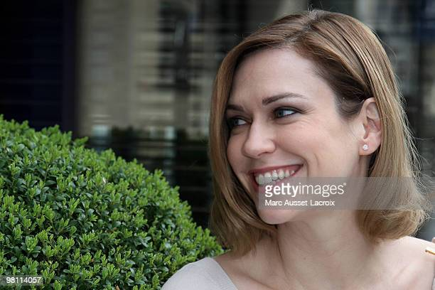 MarieJosee Croze poses for Romy Schneider And Patrick Dewaere Awards Brunch 2010 at Hyatt Regency Madeleine on March 29 2010 in Paris France