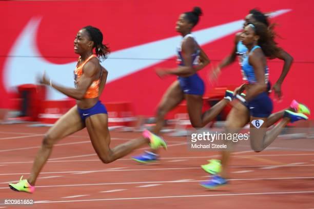 MarieJosee Ta Lou of Ivory Coast during the women's 200m during the IAAF Diamond League Meeting Herculis on July 21 2017 in Monaco Monaco