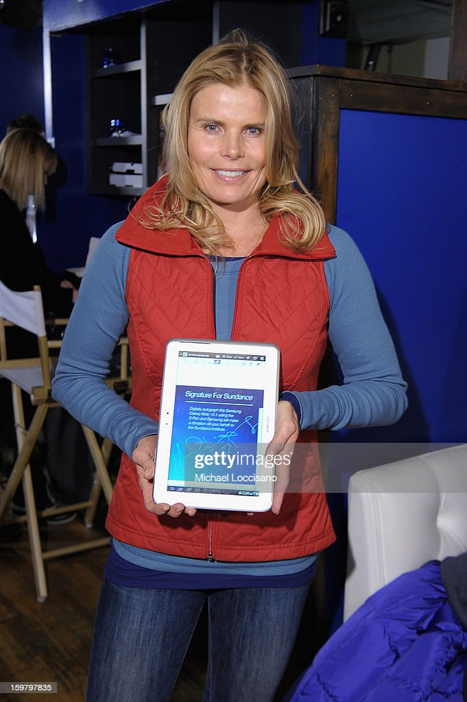 <a gi-track='captionPersonalityLinkClicked' href=/galleries/search?phrase=Mariel+Hemingway&family=editorial&specificpeople=212955 ng-click='$event.stopPropagation()'>Mariel Hemingway</a> attends Day 3 of Samsung Galaxy Lounge at Village At The Lift 2013 on January 20, 2013 in Park City, Utah.