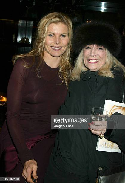 Mariel Hemingway in Donna Karan with Sylvia Miles during Mariel Hemingway's Book Launch Party for 'Finding My Balance A Memoir' at Donna Karan store...