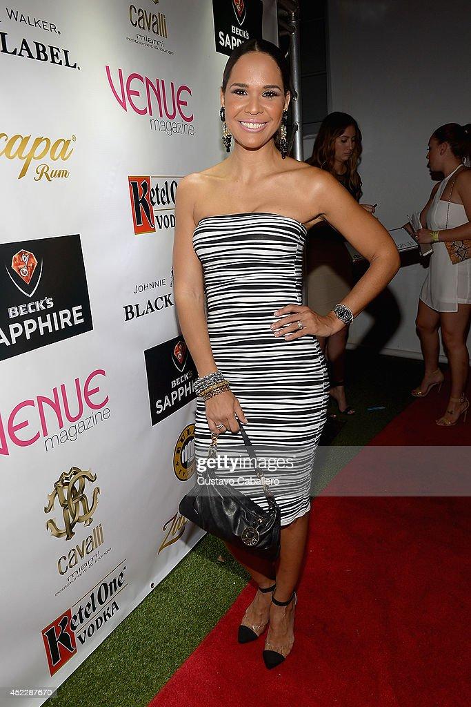 Mariela Encarnacion arrives at the Cavalli Miami on July 16, 2014 in Miami Beach, Florida.
