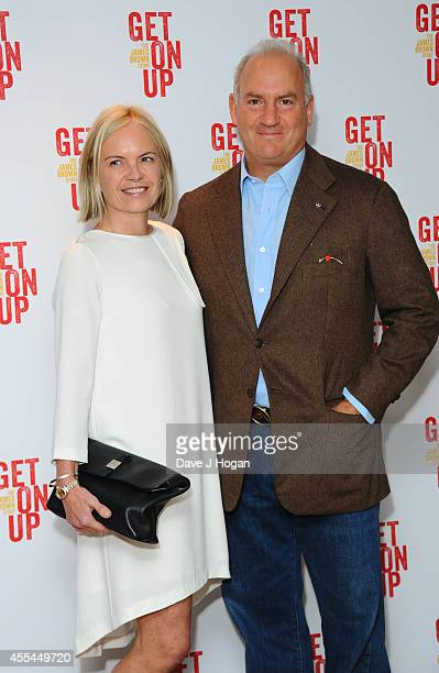 Mariela Frosrup and Charles Finch attend a special screening of 'Get On Up' on September 14 2014 in London England