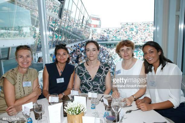 MarieLaure Sauty de Chalon Nathalie Sonnac President of France Television Delphine Ernotte Martine Viallet and Leila Kaddour attend the 'France...
