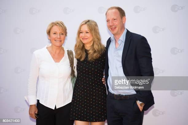 Mariele Millowitsch Stefanie Stappenbeck and Johann von Buelow attend the ZDF reception during the Munich Film Festival at Hugo's on June 27 2017 in...