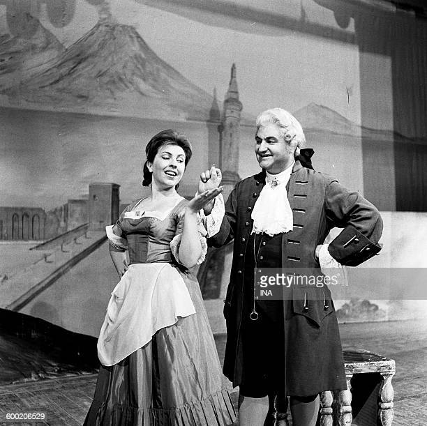 Mariella Adani and Marcello Cortis in a scene of the opera of Mozart 'Coif Fan Tutte' represented to the Festival of AixenProvence