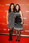 Mariella Ahrens and Funda Vanroy attend the 21th Annual Jose Carreras Gala at Hotel Estrel on December 17 2015 in Berlin Germany