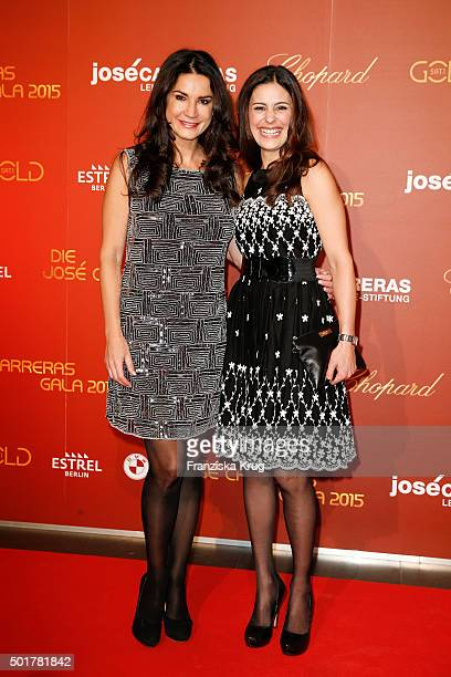 Mariella Ahrens and Funda Vanroy attend the 21th Annual Jose Carreras Gala at Hotel Estrel on December 17 2015 in Berlin Germany