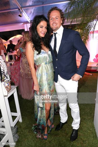 Mariella Ahrens and her boyfriend Marc Sebastian Esser during the Raffaello Summer Day 2017 to celebrate the 27th anniversary of Raffaello at...