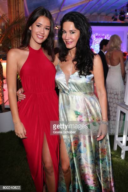 Mariella Ahrens and her daughter Isabella Maria Ahrens during the Raffaello Summer Day 2017 to celebrate the 27th anniversary of Raffaello at...