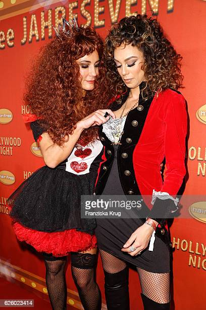 Mariella Ahrens and Lilly Becker attend the Hollywood Superhero Fairytale Night hosted by Jens Hilbert on November 26 2016 in Darmstadt Germany