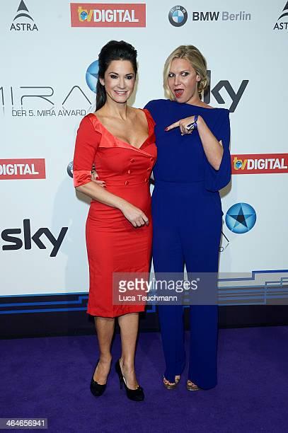 Mariella Ahrens and Magdalena Brzeska attend the Mira Award 2014 at Station on January 23 2014 in Berlin Germany
