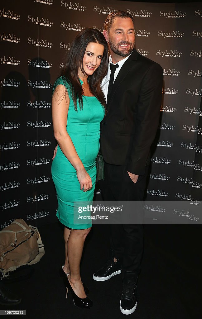 Mariella Ahrens and Michael Michalsky attend the Michalsky Style Nite Autumn/Winter 2013/14 Show at the Mercedes-Benz Fashion Week at Tempodrom on January 18, 2013 in Berlin, Germany.