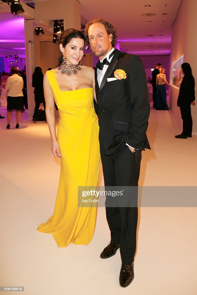 Mariella Ahrens and Sebastian Esser attend the Rosenball 2016 on April 30, 2016 in Berlin, Germany.