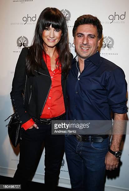 Mariella Ahrens and Shan Rahimkhan attend No1 TRUE BERLIN BY Shan Rahimkhan ghd on September 13 2013 in Berlin Germany