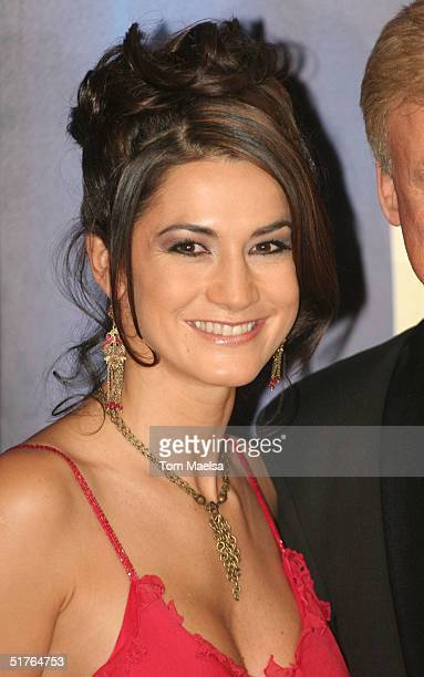 Mariella Ahrens arrives at the Bambi Award at Theater im Hafen on November 18 2004 in Hamburg Germany
