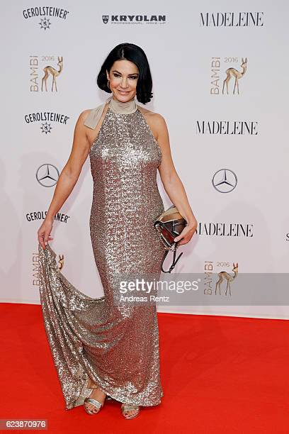 Mariella Ahrens arrives at the Bambi Awards 2016 at Stage Theater on November 17 2016 in Berlin Germany
