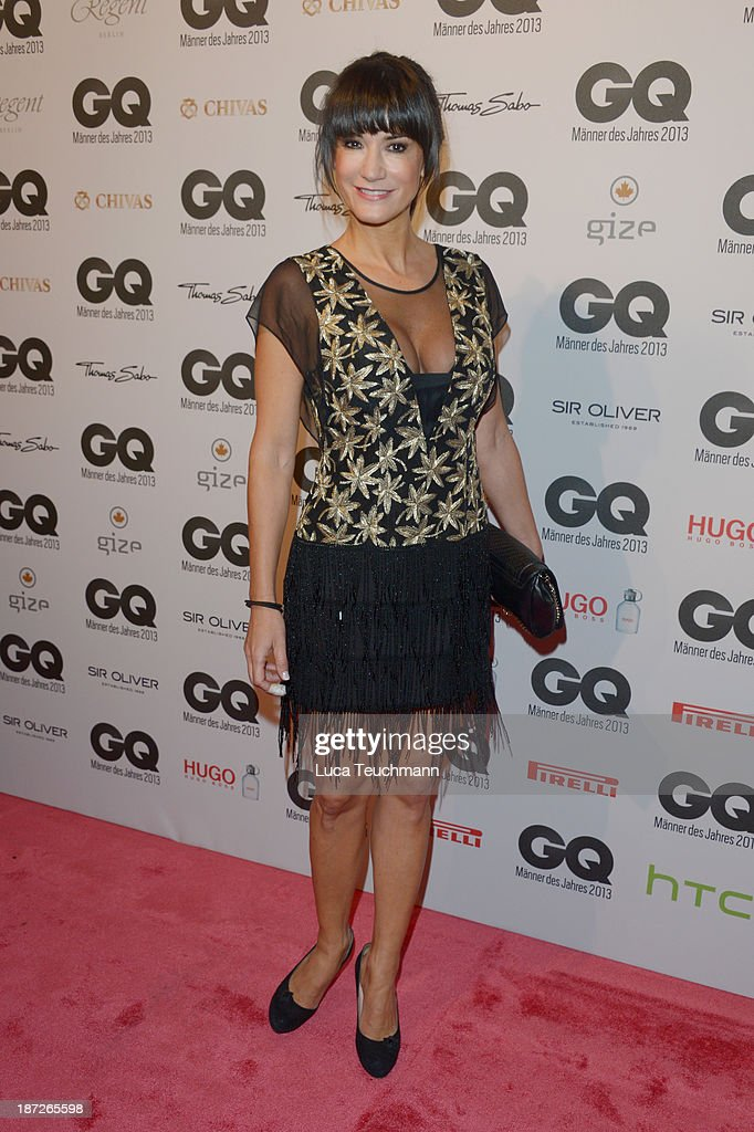 <a gi-track='captionPersonalityLinkClicked' href=/galleries/search?phrase=Mariella+Ahrens&family=editorial&specificpeople=206438 ng-click='$event.stopPropagation()'>Mariella Ahrens</a> arrives at the GQ Men of the Year Award at Komische Oper on November 7, 2013 in Berlin, Germany.