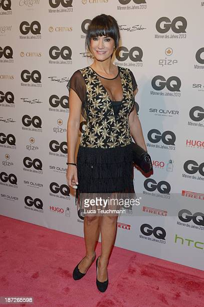Mariella Ahrens arrives at the GQ Men of the Year Award at Komische Oper on November 7 2013 in Berlin Germany