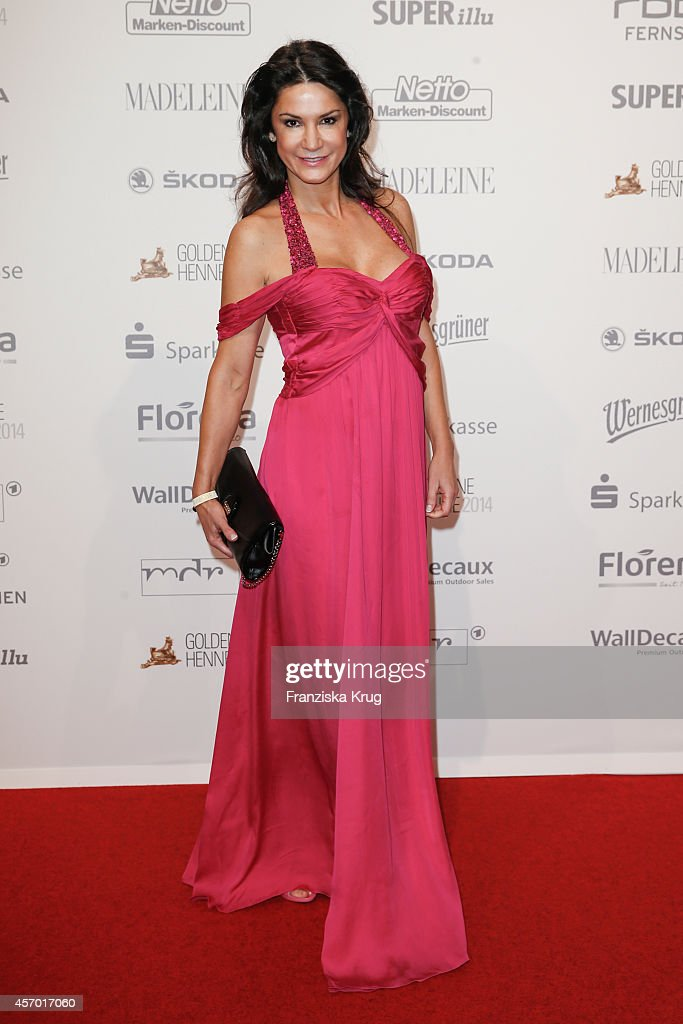 Mariella Ahrens attends Madeleine at Goldene Henne 2014 on October 10, 2014 in Leipzig, Germany.