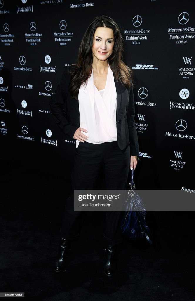 Mariella Ahrens attends Minx By Eva Lutz Autumn/Winter 2013/14 fashion show during Mercedes-Benz Fashion Week Berlin at Brandenburg Gate on January 16, 2013 in Berlin, Germany.