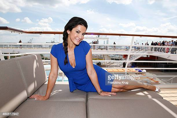 Mariella Ahrens attends the christening of the ship 'Mein Schiff 3' on June 12 2014 in Hamburg Germany