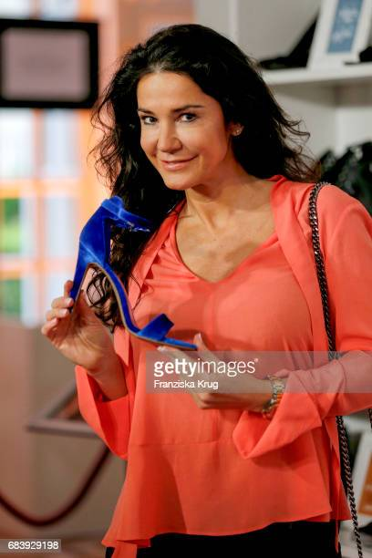 Mariella Ahrens attends the Deichmann Shoe Step of the year award at Curio Haus on May 16 2017 in Hamburg Germany