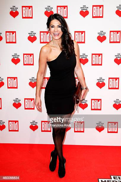Mariella Ahrens attends the Ein Herz Fuer Kinder Gala 2014 Red Carpet Arrivals on December 6 2014 in Berlin Germany