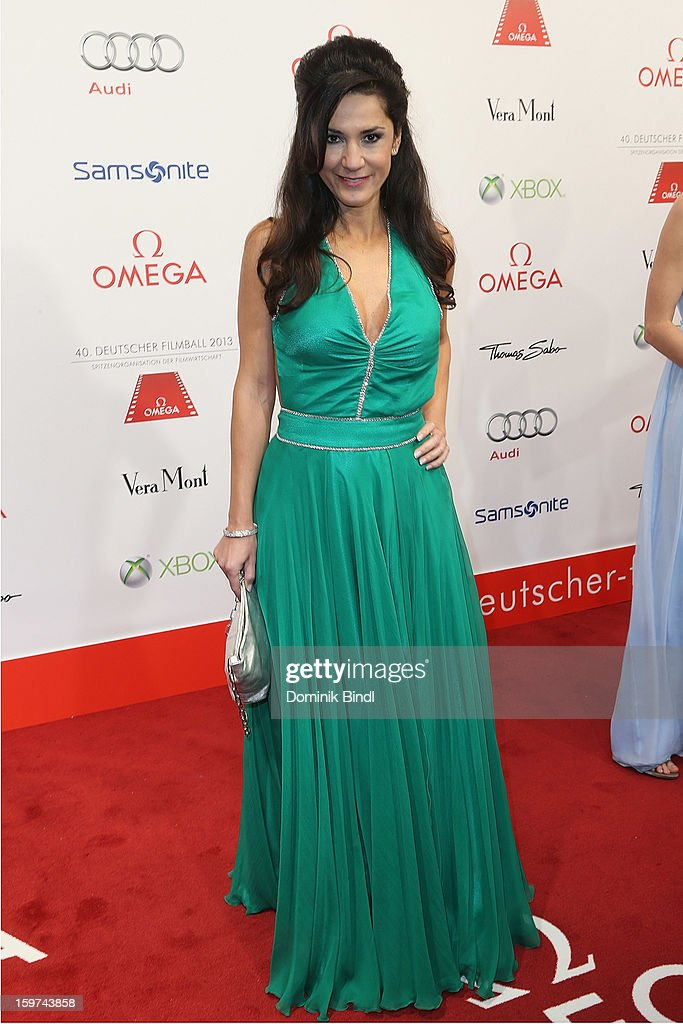 Mariella Ahrens attends the Germany Filmball 2013 at Hotel Bayerischer Hof on January 19, 2013 in Munich, Germany.