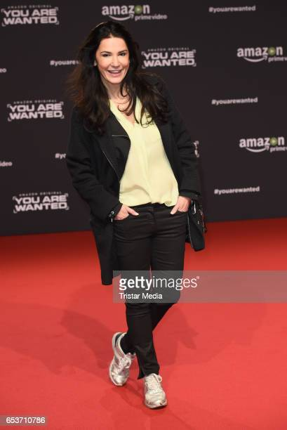 Mariella Ahrens attends the premiere of the Amazon series 'You are wanted' at CineStar on March 15 2017 in Berlin Germany
