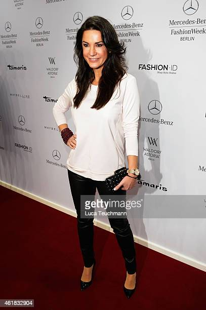Mariella Ahrens attends the Riani show during the MercedesBenz Fashion Week Berlin Autumn/Winter 2015/16 at Brandenburg Gate on January 20 2015 in...