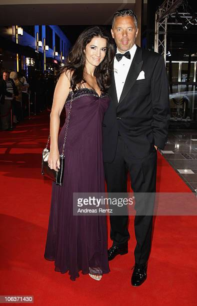 Mariella Ahrens Faber Castell and husband Patrick Faber Castell arrive for the UNESCO CharityGala 2010 at Maritim Hotel on October 30 2010 in...