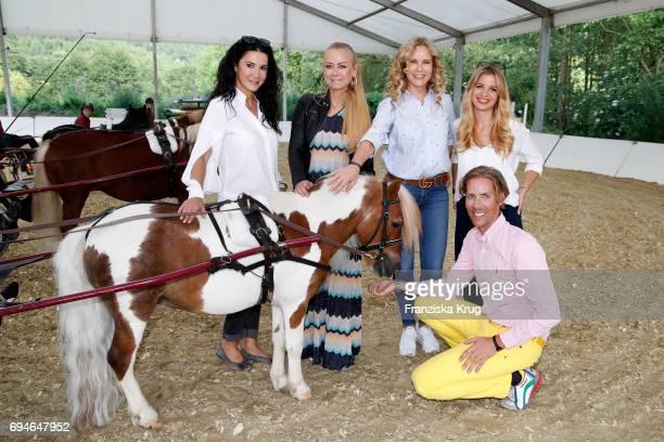 Mariella Ahrens Jenny Elvers Katja Burkard Susan Sideropoulos and Jens Hilbert during the Balve Optimum International Horse Show on June 10 2017 in...