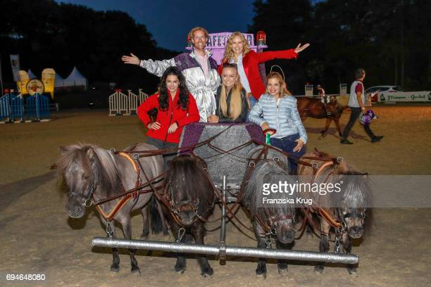 Mariella Ahrens Jens Hilbert Jenny Elvers Katja Burkard and Susan Sideropoulos during the Balve Optimum International Horse Show on June 10 2017 in...