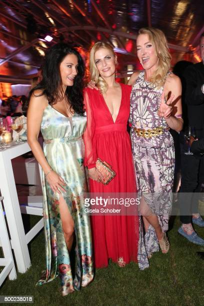 Mariella Ahrens Tanja Buelter and Lilly zu SaynWittgensteinBerleburg during the Raffaello Summer Day 2017 to celebrate the 27th anniversary of...