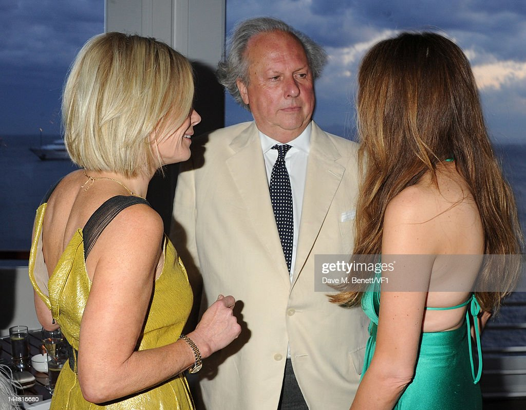 Mariella Frostrup and Editor of Vanity Fair Graydon Carter attend the Vanity Fair And Gucci Party during the 65th Annual Cannes Film Festival at Hotel Du Cap on May 19, 2012 in Antibes, France.